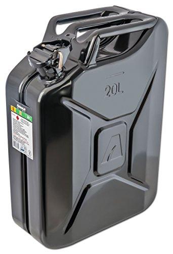 ARNOLD 20 L, schwarz, 6011-X1-2002 Metall-Kraftstoffkanister 20L