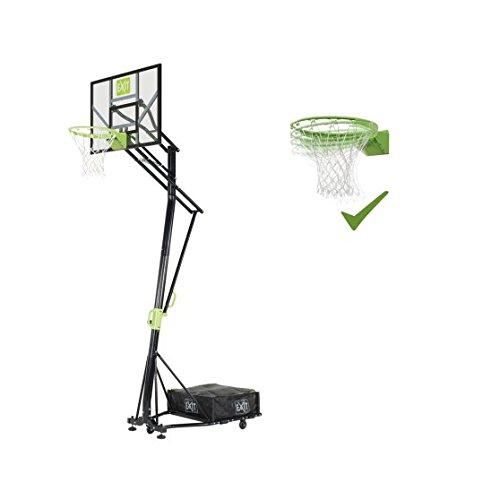 EXIT Galaxy versetzbarer Basketballkorb auf Rädernmit Dunkring - grün/schwarz
