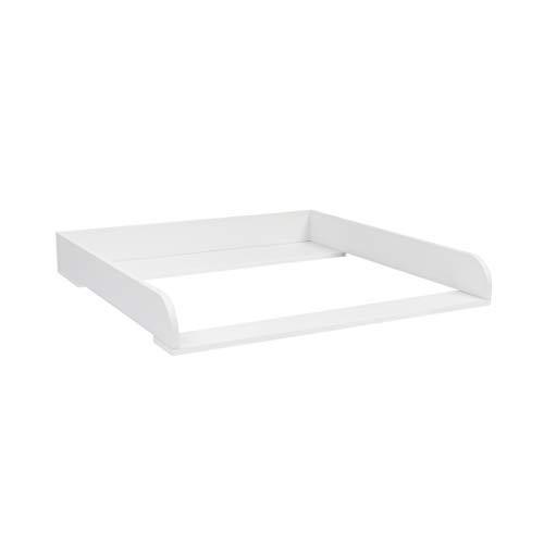 Puckdaddy Wickelaufsatz Moritz – 80x78x10 cm, Wickelauflage aus Holz in Weiß, hochwertiger Wickeltischaufsatz passend für IKEA Malm Kommoden, inkl. Montagematerial zur Wandbefestigung