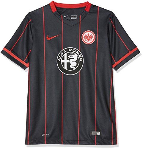 Nike Kinder Eintracht Frankfurt Home Stadium 2015/2016 Heimtrikot, schwarz, 147/158