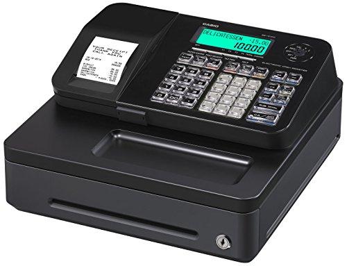 Casio SE-S100SB-BK-FIS !!!Wichtig: Produkttext beachten!!! Gdpdu-fähige Registrierkasse inclusive Softwarelizenz, SD-CARD und Batterie Komplettpaket und kostenfreier Hotline, Schwarz