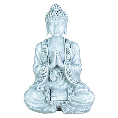 Zen\'Light SBM2Figur, Buddha/Meditation 2, Stein, 10x 5x 12,5cm, Grau