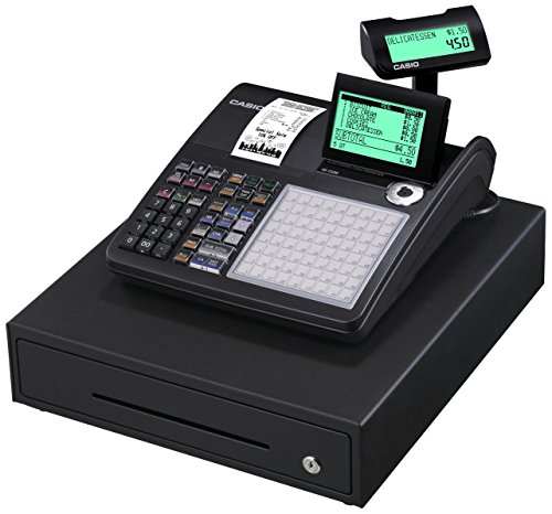 Casio SE-C450MB-FIS GDPdU-fähige Registrierkasse inclusive Softwarelizenz, SD-Card und Batterie Komplettpaket und kostenfreier Hotline, schwarz