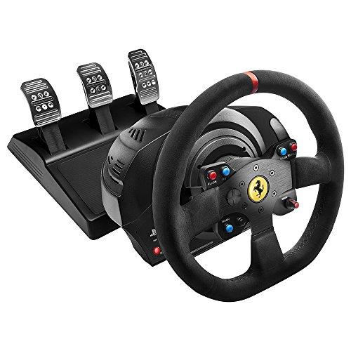 Thrustmaster T300 Ferrari Integral Alcantara Edition (Lenkrad inkl. 3-Pedalset, PS4 / PS3 / PC)