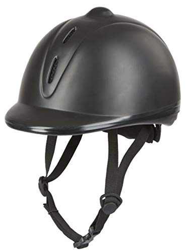 Covalliero Kinder Helm Reithelm Econimo VG1, Schwarz, 52-55 cm, 328254