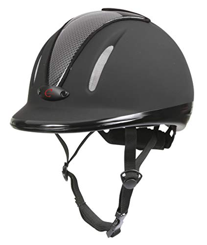 Covalliero Kinder Helm Reithelm Carbonic VG1, Anthrazit, 50-54 cm