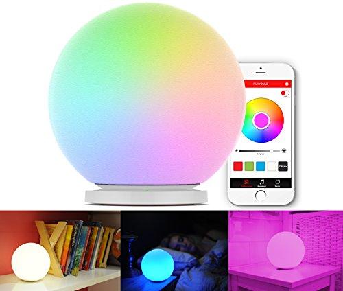 MiPow Playbulb Sphere (app-gesteuerte RGB LED-Leuchtkugel, Lampe, Stimmungslicht, Farbwechsel, Farbeeffekte, SmartHome) für Android & Apple aus Opalglas