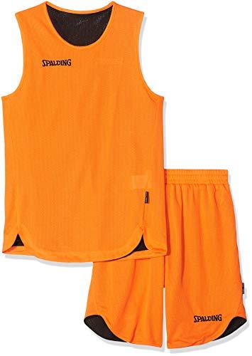 Spalding Kinder Bekleidung teamsport Doubleface Trikot set, 300401006, Mehrfarbig (orange/Schwarz), 140 cm, Gr. S