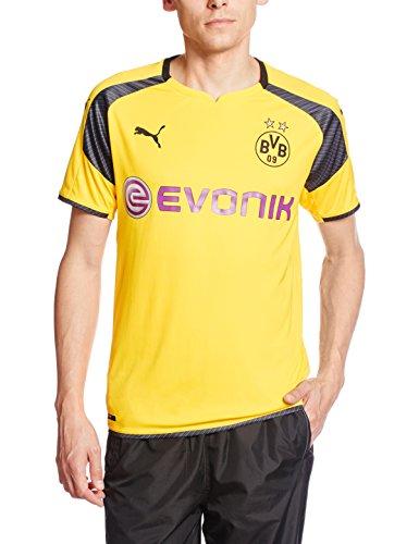 PUMA Herren Trikot BVB international Replica Shirt with Sponsor Logo Gelb-Cyber Yellow/Black, XL