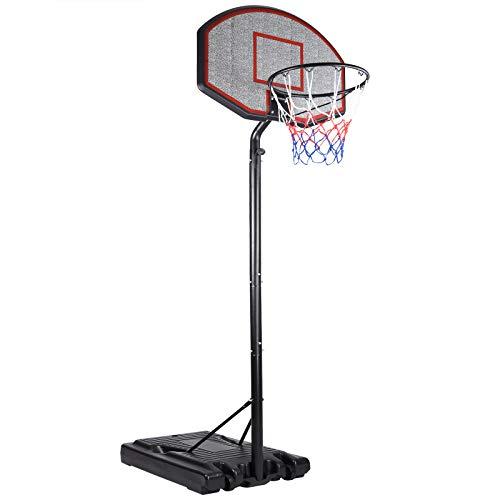 Deuba Mobiler Basketballkorb mit Rollen | Verstellbare Korbhöhe 205 - max. 310cm | Basketball Ständer
