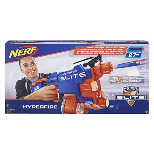 Hasbro B5573EU4 - N-Strike Elite Hyper-Fire halbautomatischer Spielzeugblaster, mit Trommelmagazin