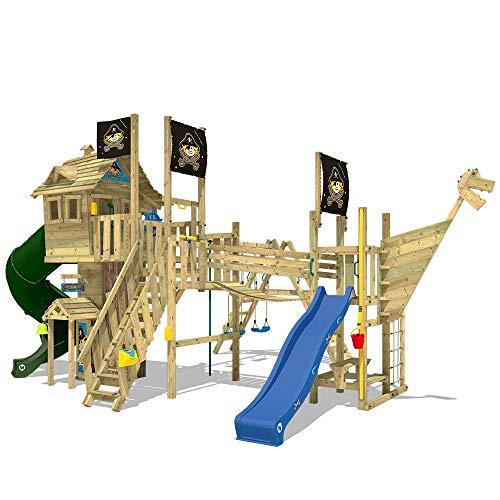 WICKEY Klettergerüst NeverLand Gold Edition - Spielturm mit Turborutsche