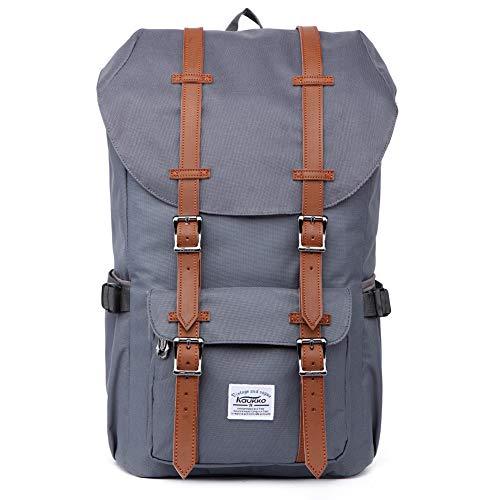 """KAUKKO Rucksack, Studenten Backpack für 15\"""" Notebooks, 22L, Grau"""