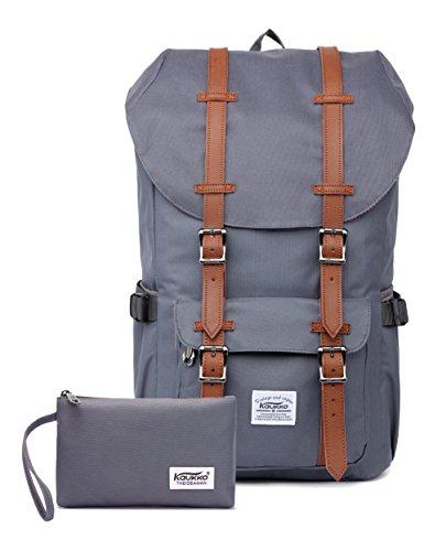 Outdoor Laptop-Rucksack, Reisen Wandern & Camping Rucksack Pack, Kaukko, Grau (CG 2PCS)