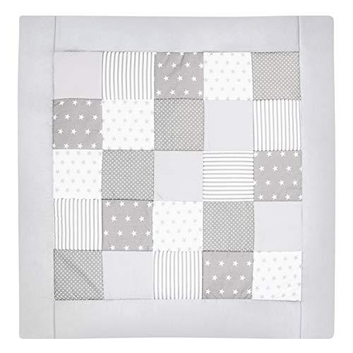 Amilian® Krabbeldecke Patchworkdecke Spieldecke Decke (M032) (145x145 cm)