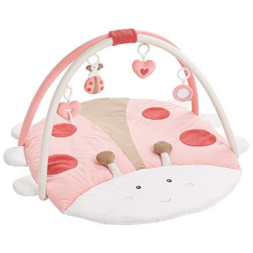 Fehn 068399 3-D-Activity-Decke Käfer - Spielbogen mit 4 abnehmbaren Spielzeugen für Babys Spiel & Spaß von Geburt an - Maße: 95x85cm