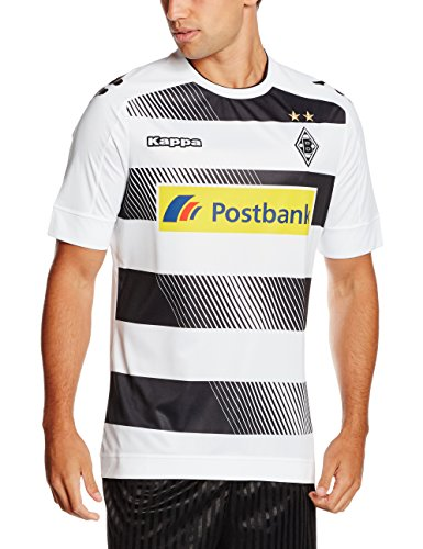 Kappa Herren Trikot Home 2016/2017 Borussia Mönchengladbach, 001 White, XL