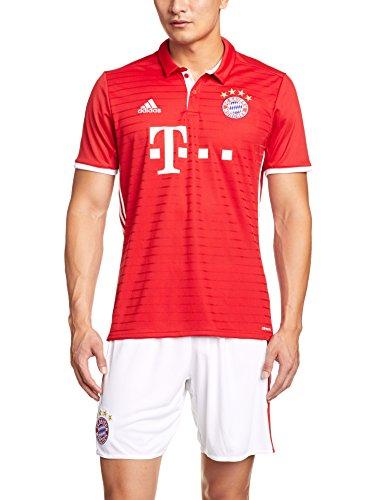 adidas Herren Fußball/Heim FC Bayern München Replica Trikot, Fcb True Red/White, XL
