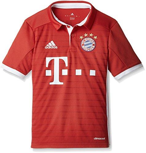 adidas Jungen Fußball/Heim-trikot FC Bayern München Replica Heimtrikot, FCB True Red/White 152