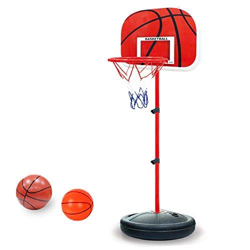 PELLOR Einstellbare Basketballständer, Basketballkorb mit Ständer Höhenverstellbar Basketball-Backboard Ständer Hoop Set für Kinder