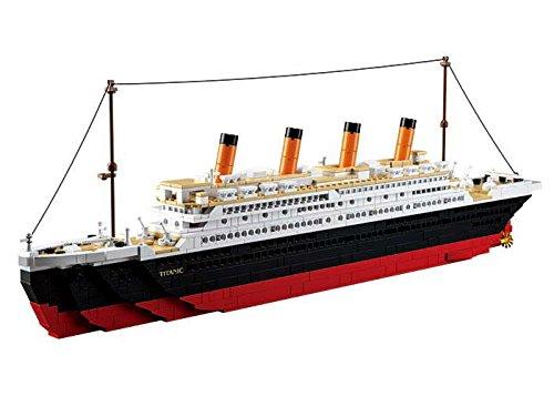 Sluban Klemmbausteine Sluban SL95337, Großer Bausatz (1012 Teile) [M38-B0577], Spielset, Klemmbausteine, Schifffahrt, mit Spielfigur, Titanic