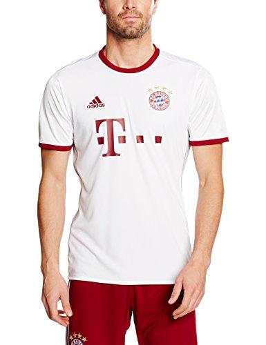 adidas Herren FC Bayern München Replica UCL Trikot, White/Light Onix/Collegiate Burgundy, M