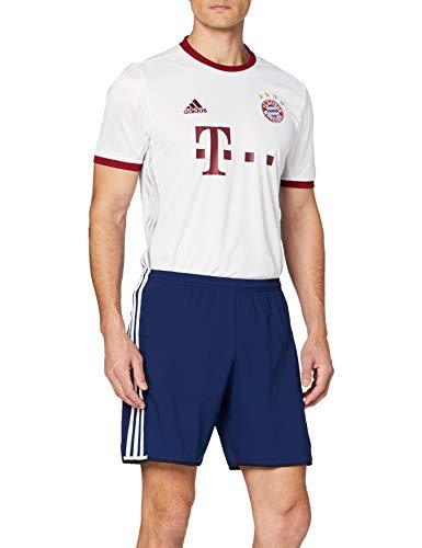 adidas Herren FC Bayern München Replica UCL Trikot, White/Light Onix/Collegiate Burgundy, XL