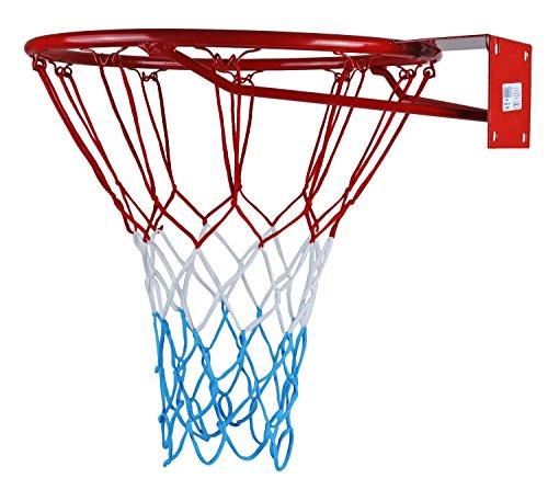 KIMET HangRing Basketballkorb Basketball Basketballring mit Ring und Netz Qualität-und Sicherheitsgeprüft Abmessungen: Ø 45 cm und 37 cm (zur Auswahl) (KIMET 37, 37 cm)
