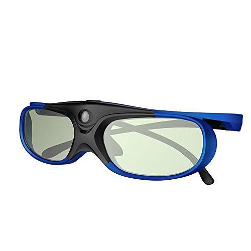ELEPHAS DLP Link 3D-Brille Wiederaufladbare für DLP-Projektoren Optoma, BenQ, Acer, Viewsonic, Dell, Schwarz/Blau (2018 Comfortable Version). MEHRWEG