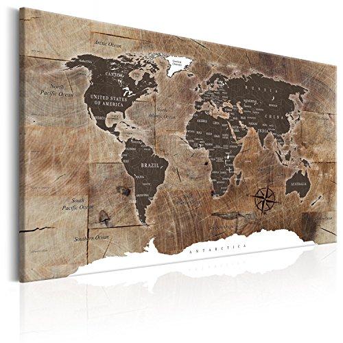 murando - Bilder 120x80 cm Vlies Leinwandbild 1 TLG Kunstdruck modern Wandbilder XXL Wanddekoration Design Wand Bild - Poster Weltkarte Welt Landkarte Kontinente k-C-0050-b-d