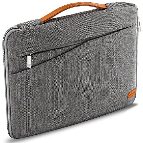 """deleyCON 15,6\"""" (39,62cm) Notebook Tasche für Netbook Laptop Laptoptasche aus robustem Nylon 2 Zubehörfächer verstärkte Polsterwände - Grau"""