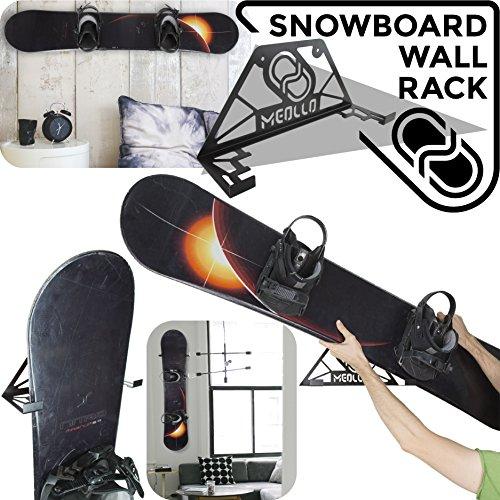 Snowboard wandhalterung (100{3f0bd559626a9115b7af79abfe7e468a707f0e5ea6794608bd78d54339299f13} Stahl) (schwarz)