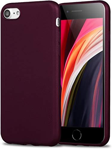 X-level iPhone 8 Hülle, iPhone 7 Hülle, [Guardian Serie] Soft Flex TPU Case Ultradünn Handyhülle Silikon Bumper Cover Schutz Tasche Schale Schutzhülle für iPhone 7/ iPhone 8 4.7 Zoll - Weinrot