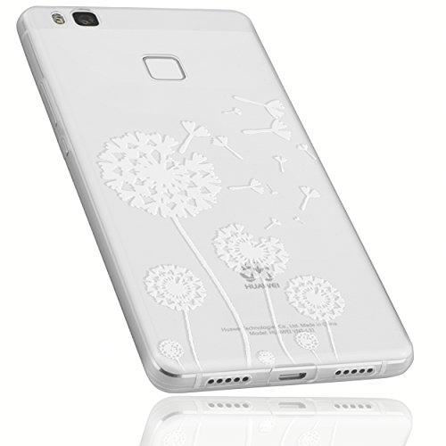 mumbi Hülle kompatibel mit Huawei P9 Lite Handy Case Handyhülle mit Motiv Pusteblume, transparent