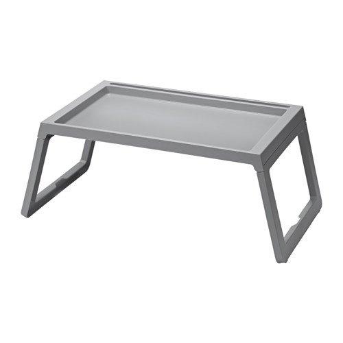 IKEA klipsk Bett-Tablett Serviertablett für Frühstück Tabletttisch Sofatisch Beistelltisch mit klappbaren Beinen70cm, 36cm, 26cm (grau)