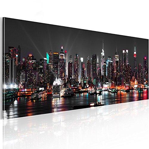 murando® XXL Panoramabild –Vlies Leinwand - Kunstdrucke – Skyline New York NY Stadt City 135x45 cm