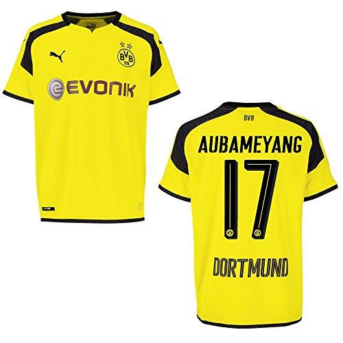 PUMA BVB Borussia Dortmund Trikot 3rd Herren 2016/2017 - AUBAMEYANG 17, Größe:L