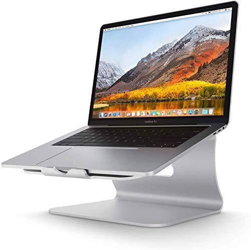 Spinido, Aluminium-Laptop-Ständer für Apple Macbook und alle anderen Notebooks, Silber (patentiert)