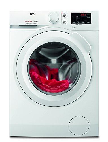 AEG L6FB54680 Waschmaschine / 8 kg / Waschvollautomat mit Mengenautomatik, Nachlegefunktion, Kindersicherung, Schontrommel / 1600 U/min