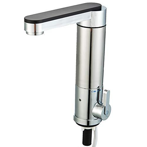 Elektrischer Wasserhahn Durchlauferhitzer - Jnod Sjb-30 Pro 180° Schwenkbare Heiß- und Kalt-Elektroheizung Warmwasserbereiter mit Personenschutz-Stecker für Küche, Badezimmer, Waschraum