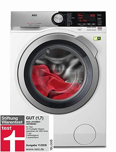 AEG L8FE86484 Waschmaschine / ProSteam - Auffrischfunktion / ÖkoMix-Faserschutz / 8 kg / Leise / Mengenautomatik / Nachlegefunktion / Schontrommel / Allergikerfreundlich