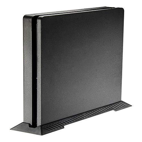 eXtremeRate Standfuß für PS4 Slim Vertical Stand für Playstation 4 Slim, mit Stabiler Fuß und Lüftungsschlitzes Design zur sichere Aufbewahrung der Konsole(Schwarz)