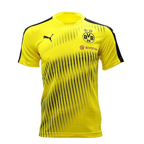 PUMA Herren BVB Stadium Jersey with Sponsor Logo Trikot, Cyber Yellow Black, M