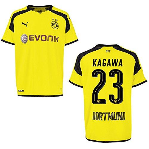 Puma BVB Borussia Dortmund Trikot 3rd Herren 2016/2017 - Kagawa 23, Größe:S