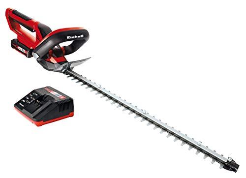 Einhell Akku-Heckenschere GE-CH 1855/1 Li Kit Power X-Change (Li-Ion, 18 V, 55 cm Schnittlänge, lasergeschnittene, diamantgeschliffene Messer, inkl. 1 Stück Batterie 2Ah.)