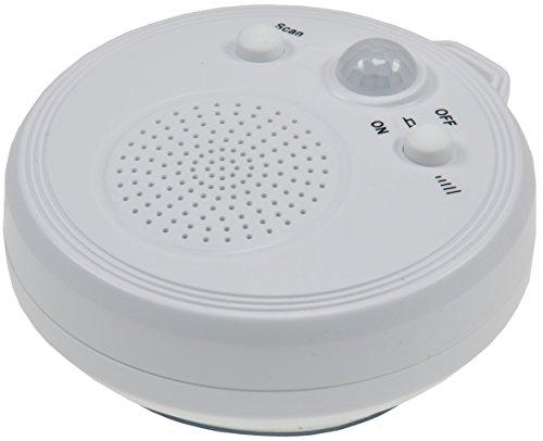 """Radio mit PIR-Sensor DR-1\"""" Saugnapf 360° Bewegungsmelder, Batteriebetrieb 3xAA Wasserdicht Weiß"""