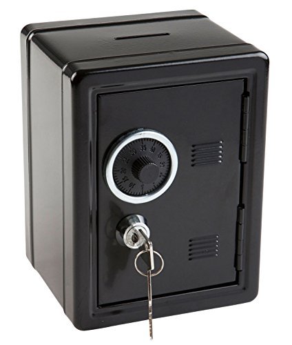 Idena 50034 - Spartresor, 120 x 105 x 160 mm, schwarz, 1 Stück