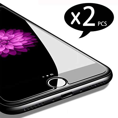 NEW\'C 2 Stück, Schutzfolie Panzerglas für iPhone 7 und iPhone 8, Frei von Kratzern, 9H Härte, HD Displayschutzfolie, 0.33mm Ultra-klar, Ultrabeständig