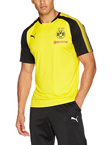 PUMA Herren BVB Training Jersey with Sponsor Logo T-Shirt, Cyber Yellow Black, M