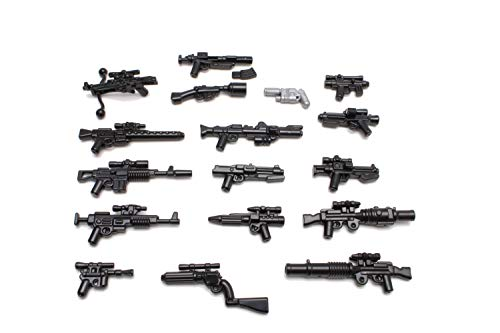 BrickArms Star Wars™ Blaster Stellar Waffenset, Custom Waffen kompatibel mit Lego® Minifiguren